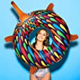 Echidna Swim Ring. Make a Colourful Splash with Our Fun, Bold, Creative, Local Australian Designs. Suitable for Adults and Ki