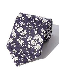 Liberty Print Cotton Tie 51-44-0080-901: Purplish Navy