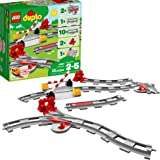 LEGO DUPLO Town Train Tracks 10882 Building Kit (23 Piece), Multicolor