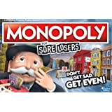 Monopoly For Sore Losers Board Game- the game where it pays to lose- 2 to 6 players- Family Board Games- Ages 8+, Length: 40