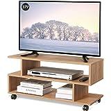 WLIVE テレビ台 テレビボード ローボード キャスター付き 幅88×奥行30×高さ39cm 24-37V対応 キャス…