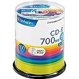 Verbatim バーベイタム 1回記録用 CD-R 700MB 100枚 シルバーディスク 48倍速 SR80FC10…