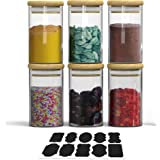 Spice Jars Set with Pantry Labels - Airtight Glass Jars for Lasting Freshness - Ideal Spice Storage Containers for Kitchen St