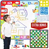 Aqua Magic Doodle Mat Large Size Color Mat For Toddlers Magic Doodle Mat + Snakes & Ladders Board Game Gift Allow Your Childr