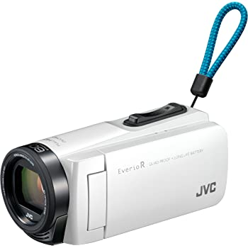 JVCKENWOOD JVC ビデオカメラ Everio R 防水 防塵 32GB シャインホワイト GZ-R470-W
