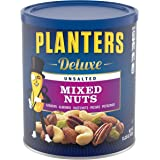 Planters PLANTERS Deluxe, oz. Resealable Container - Variety Unsalted Nuts with Cashews, Almonds, Hazelnuts, Pistachios & Pec
