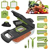 Blaze AU Vegetable Chopper - 15 in 1 Multi-Purpose Mandoline Slicer - Vegetable Slicer - Fruit Cutter with 7 Adjustable Blade