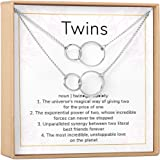 Dear Ava Twin Sister Gift Necklace, Jewelry Gift for Twin