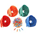 Bright Creations #3 Nylon Coil Zippers for Sewing, 4 Colors (5 Yards, 120 Pieces)
