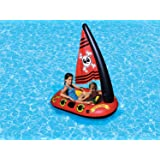 Poolmaster 87308 Pirate Boat Swimming Pool Float Red/Yellow