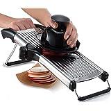 Gourmia GMS9105 Adjustable Stainless Steel Mandoline Slicer Dial-Style Kitchen Slicer With Built in Adjustable Blades Fine to