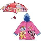 Hasbro Little Girls My Little Pony Best Friends Slicker and Umbrella Rainwear Set