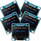 Frienda 5 Piece 0.96 Inch OLED Module 12864 128x64 Yellow Blue SSD1306 Driver I2C IIC Serial Self-Luminous Display Board Comp