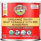 Earth's Best Organic Dairy Infant Powder Formula with Iron, Omega-3 DHA and Omega-6 ARA, 23.2 oz.