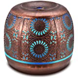 Ominihome Essential Oil Diffuser, 500ml Metal Diffuser for Essential Oils with Waterless Auto Shut-Off Protection, Ultrasonic