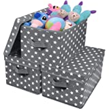 GRANNY SAYS Storage Bin with Lid, Kid's Storage Box, Toy Storage Basket Nursery Storage Containers with Lids, Cute Star Patte