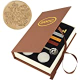 SAMYO Classic Sealing Wax Seal Stamp Vintage Old-Fashioned Antique Brass Pattern Creative Romantic Stamp Maker for Postage Le