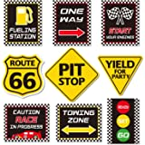 Race Car Party Decorations, Racing Happy Birthday Party Signs Cutouts Let's Go Racing Party Supplies for Kids Race Fans