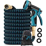YOTOCOOL Garden Hose Expandable Water Hose with 9 Function Spray Nozzle, Leakproof Expanding Flexible Outdoor Yard Hose with