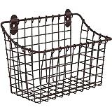 "Spectrum Diversified Vintage Wall Mount Storage Basket, 10"" x 5"" x 7"", Bronze"