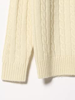 Wool Cable Crewneck Sweater 11-15-0881-103: White