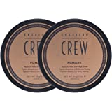 American Crew Pomade, 3 oz, (2 Pack) Smooth Control with High Shine, 6 oz.