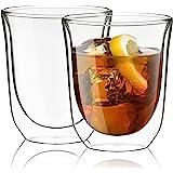 JoyJolt Levitea Double Walled Glasses Thermo Tumber, Barware, Drinkware, Glassware (Set of 2) -8.4-Ounces