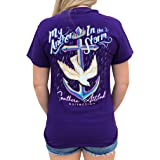 Southern Attitude My Anchor in The Storm Cross Anchor Purple Women's Short Sleeve T-Shirt