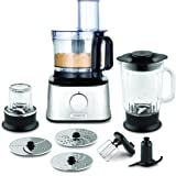 Kenwood FDM302SS Multipro Compact Food Processor, 2.1 Litre Bowl, 1.2 Litre Thermo-resist Glass Blender, Dough Hook, Whisk, R