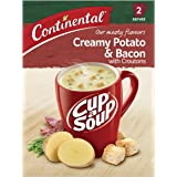 CONTINENTAL Cup-A-Soup | Creamy Potato & Bacon With Croutons, 2 pack, 50g