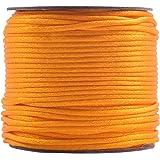KONMAY 50 Yards 2.0MM Rattail/Bugtail Satin Silk Cord Shamballa Macrame Beading Nylon Kumihimo String, Sunflower 523, 2.0mm