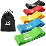 Mighty Aussie Resistance Bands - Set of 5 Anti-Slip Rubber Loops for Workout, Stretching, Strength Training, Rehabilitation &