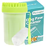 Upgrade 2 in 1 Dog Paw Cleaner & Pet Grooming Brush - Portable Pet Paw Cleaner with Towel,Soft Silicone Dog Foot Washer for D
