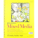 """Strathmore 300 Series Mixed Media Pad, 9""""x12"""" Wire Bound, 40 Sheets"""