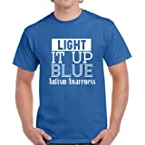 Vizor Light It up Blue Men's T Shirt Autism Awareness Shirts for Men Autism Support Shirt