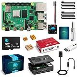Raspberry pi 4 mode B 4GB RAM (技適マーク入) MicroSDHCカード64GB Raspbianインストール済 5.1V/3A電源 Microケーブル ファン*2 カードリーダー ケース