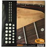 Fretboard Markers Inlay Sticker Decals for Guitar and Bass - Custom Dots Set-WS