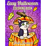 Easy Halloween: Large Print Designs for Adults and Seniors with 50 Simple Images to Celebrate Halloween!