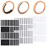 114 Pieces/ 6 Sheets Invisible Ring Size Adjuster Loose Ring Sizer Jewelry Ring Guard Ring Smaller Spacer Loose Ring Tightene
