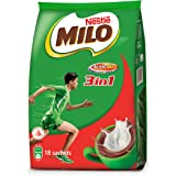 MILO 3-in-1 ActivGo Chocolate Fuze, Pack of 18 x 27g