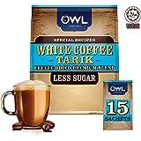Owl 100% Mandheling 3-in-1 White Coffee Tarik, Less Sugar, 15 Servings(30g each)