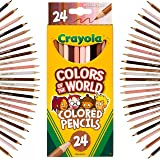 Crayola Colors of The World Pencils, representing people of the world, Skin tone Coloured Pencils, School Supplies, Perfect f
