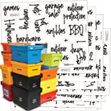 Talented Kitchen 107 Storage Room & Garage Organization Labels. Script, Preprinted Stickers. Water Resistant, Canister & Bin