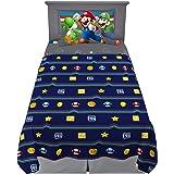 Franco MA8638 Kids Bedding Soft Sheet Set, 3 Piece Twin Size, Super Mario