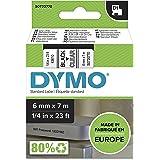 DYMO D1 Label Cassette Tape 12mm x 7M - Black on Clear