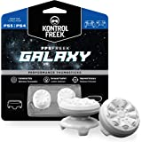 KontrolFreek FPS Freek Galaxy White for PlayStation 4 (PS4) and PlayStation 5 (PS5) | Performance Thumbsticks | 1 High-Rise,