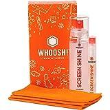 WHOOSH! Screen Cleaner Kit – Best for – Smartphones, iPads, Eyeglasses, Kindle, LED, LCD & TVs – Includes 2 Bottles 3.4oz,0.3