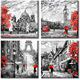 Paimuni Painting Modern Canvas Wall Art Printing Wall Decor Flower Pictures for Living Room Bathroom Bedroom Ready to Hang, O