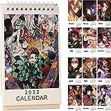 鬼滅の刃 カレンダー 2022年 人気 卓上カレンダー 実用性抜群 スケジュール 人気 アニメ 新年プレゼント 萌えグッズ きめつのやいば 周辺グッズ (この本物のカレンダーは「Goglory JP」でのみ販売されています。だまされないように、ご注文