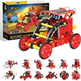 Coodoo STEM Toys for 6 Year Old Boys and Girls, 13 in 1 Solar Powered Robot Kit Educational DIY Assembly Creation Set for Stu